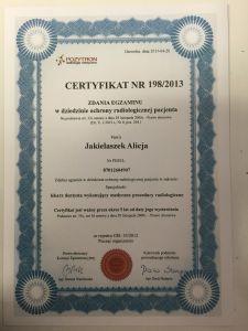 Certyfikat49